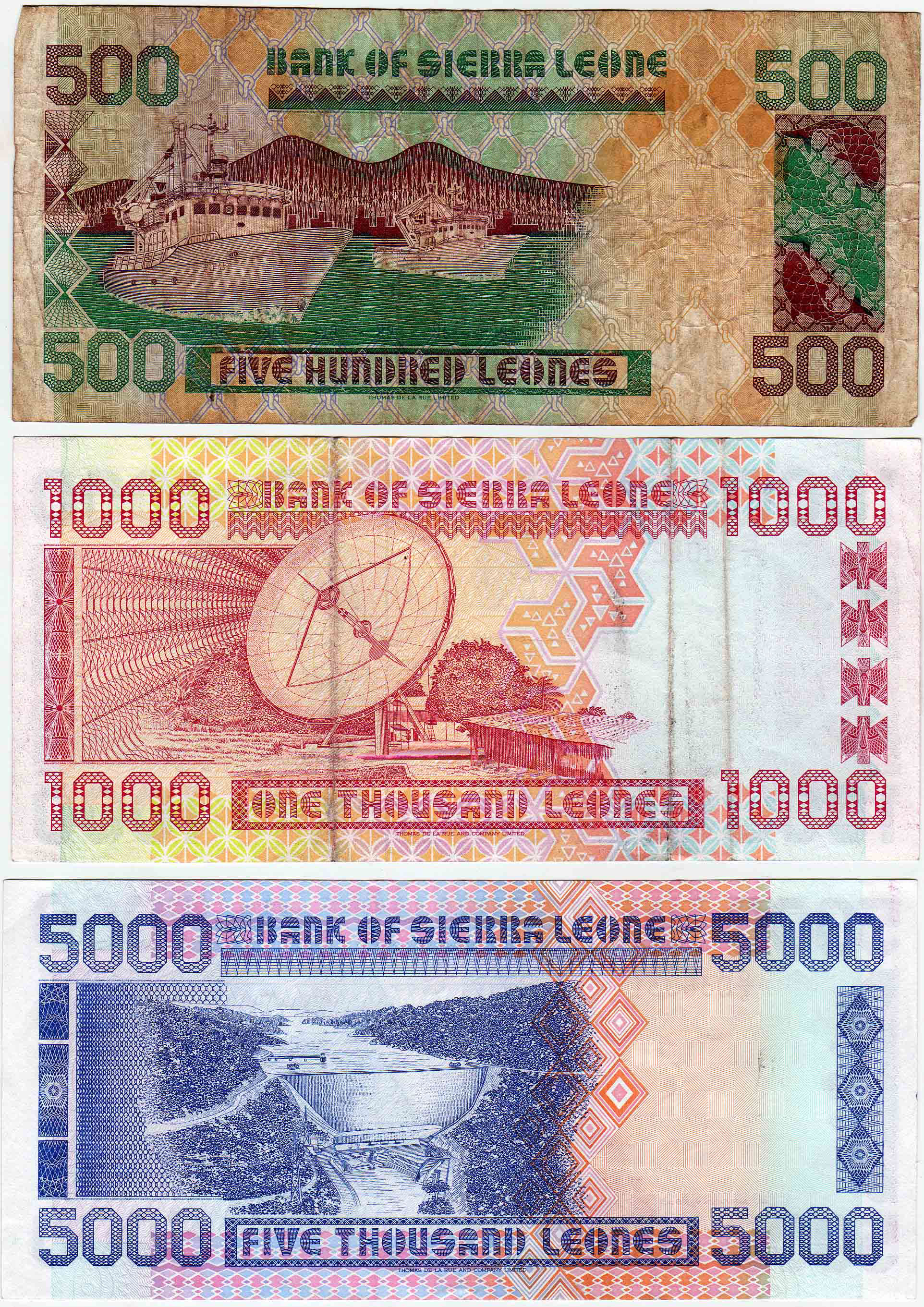 Sierra Leone Web Historic Currency And Coins From The Gary