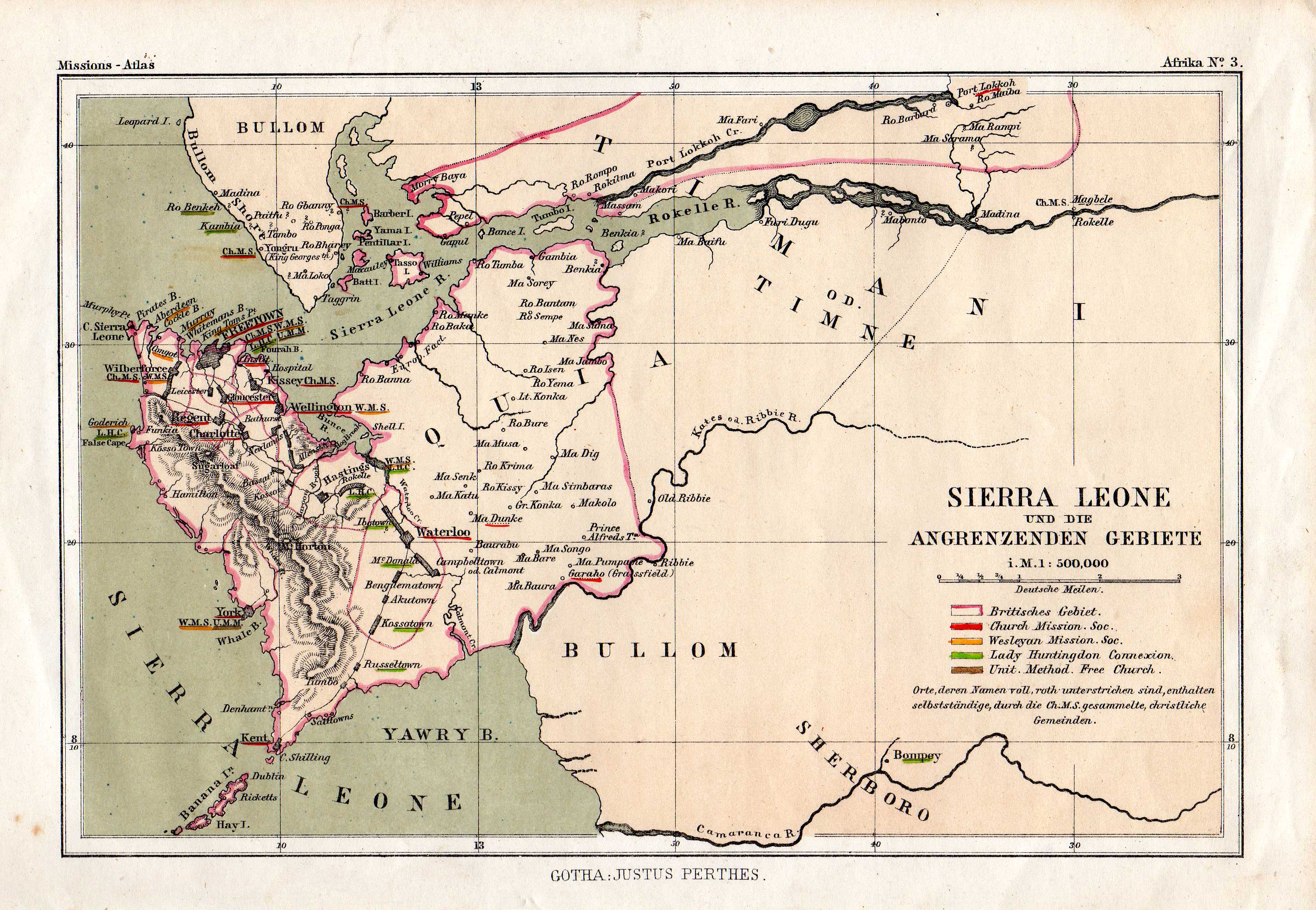 Sierra Leone Web Historic Maps of Sierra Leone from the Gary
