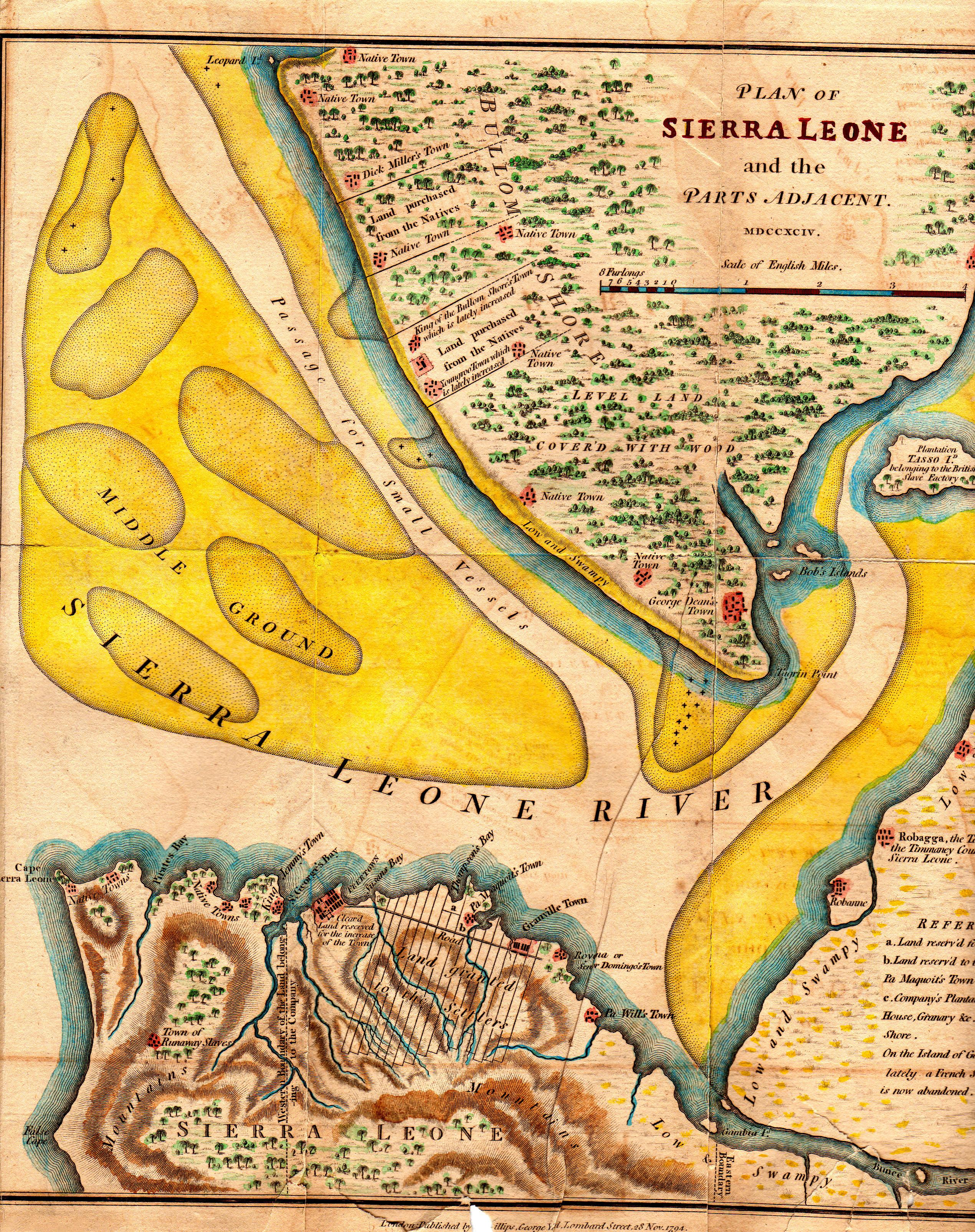 Sierra Leone Web Historic Maps Of Sierra Leone From The Gary - Sierra leone map